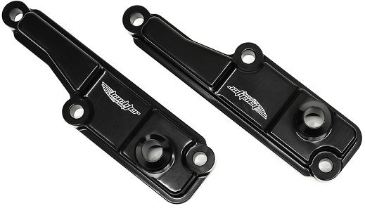 Subaru Impreza Rocker Cover Breather Caps Black Alloy AN8 Fitting V5 & V6